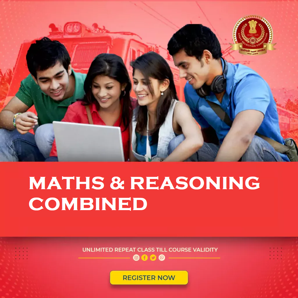 MATHS & REASONING COMBINED<br> for SSC+RAIL+BANK+WBPSC Exams